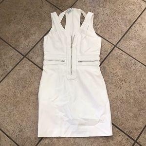 White Bebe zipper dress size 10